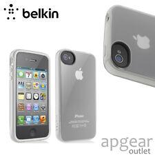 Genuine BELKIN F8Z844CWC04 blanc case en tpu case cover iPhone 4 4s