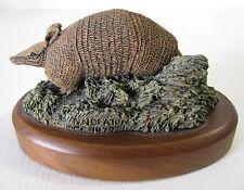 Vtg Deaton Wildlife Armadillo Figurine Audubon Bronzes Hamilton Sculpture Wood