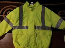 HI-VIS BOMBER JACKET Style#JY38HV  MADE BY RED KAP SIZE LRG