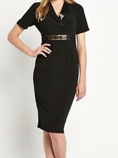 BNWT Ladies Black Sequin Collar Dress SAVOIR - sz 12