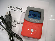 Toshiba Camileo Clip Video Camcorder Digital Still Camera 5MP HD Splashproof RED