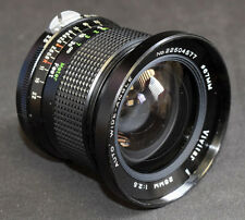 Vivitar 28mm 1: 2.5 auto wideangle Nikon fit, with both caps. (G1)
