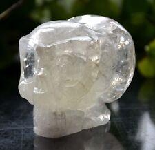 Natural Hand-carved Crystal, Crystal ancients skulls, Crystal Healing  443g