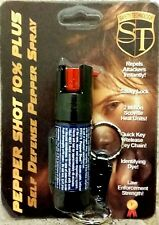 1/2 oz OC-10 10% POLICE QUICK RELEASE Keychain Keyring Pepper Shot Pepper Spray