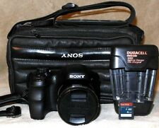 SONY Cyber-shot DSC-H200 20.1MP 26x Zoom Digital Camera Black + Extras EXCELLENT