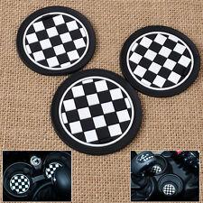 3x Chess Race Patten Checker Anti-Slip Cup Mat Pad for Mini R55 R56 R57 R58 R59