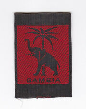 1970's AFRICA SCOUTS OF GAMBIA -  GAMBIAN SCOUT OFFICIAL EMBLEM Patch