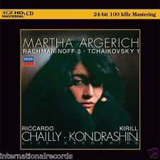 Martha Argerich Rachmaninoff 3 Tchaikovsky 1 Limited Numbered Japan K2HD CD New