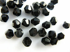 Bulk 30pcs Black Glass Crystal Faceted Bicone Beads 8mm Spacer Jewelry Findings
