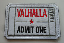 VALHALLA Ticket Moral Tactical ARMY Patch  S 532