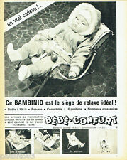 PUBLICITE ADVERTISING  026  1964  Bébé-Confort  siège Bambinid