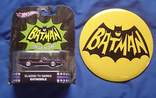 2012 Batmobile Hot Wheels & Large 6 Inch Batman Button