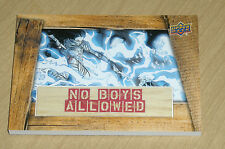 2016 Marvel GEMS base insert chase No Boys Allowed SILK vs ELECTRO NBA-18