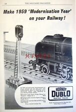 1959 Hornby-Dublo Electric Trains Advert ES6 Colour Light Signal #2 - Print AD