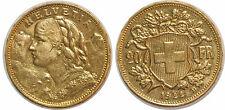 SUISSE 20 FRANCS 1922 KM#35.1 OR GOLD