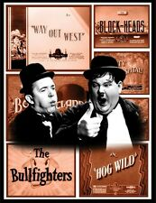 "LAUREL & HARDY FRIDGE MAGNET. #1 4X5. MOVIE TITLE LOGO ""WAY OUT WEST""..FREE SHIP"