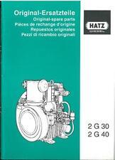 HATZ DIESEL ENGINE 2G30 2G40 PARTS MANUAL - 2 G 30 40