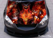 Fire Dragon Full Color Graphics Adhesive Vinyl Sticker Fit any Car Hood #295