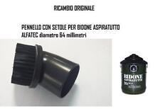 PENNELLO CON SETOLE PER BIDONE ALFATEC ORIGINALE ASPIRATUTTO diametro 64mm.