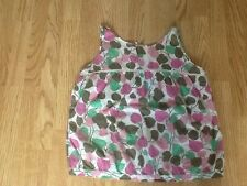 Next Women's Size 14 Vest Top - White, Pink, Green & Brown