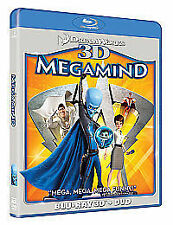 Megamind (3D Blu-ray, 2011)promotional use/new and sealed