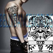 BLACK TRIBAL CELTIC POLYNESIAN BICEP UPPER ARM TEMPORARY TATTOO BODY ART STICKER