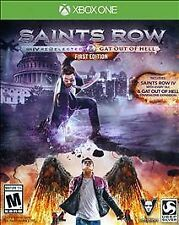 Saints Row IV 4 Re-Elected & Gat Out of Hell RE-SEALED Microsoft Xbox ONE GAME