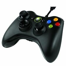 OFFICIAL XBOX 360 Wired Microsoft USB Gamepad Controller-Nero (s9f-00002)