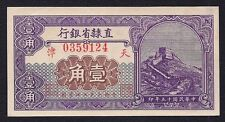 China 10 CENTS 1926 ( PROVINCIAL BANK OF CHIHLI )  S-1285  UNC