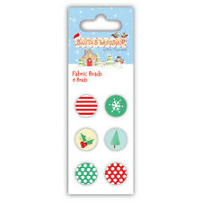 Helz Cuppleditch Santa's Workshop Fabric Brads