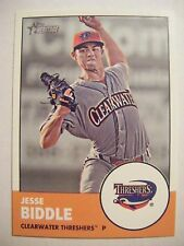 JESSE BIDDLE 2012 Topps Heritage Minors baseball card 127 QTY PIRATE PHILLIES RC