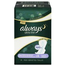 Always Ultra Thin Extra Heavy Overnight Pads with Flexi-Wings 24 ea