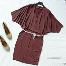 £118 All Saints Candace mini Dress Size 36 to suit a UK 8/10 WINE