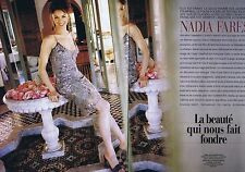 Coupure de presse Clipping 2000 Nadia Fares  (4 pages)