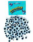 Eyes Wiggle Googly Wiggly Craft Google Black 100 assorted sizes