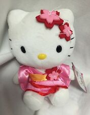 "Hello Kitty Kimono Japanese Pink Red Sanrio 5"" Plushies Doll Stuffed Toys 20969"