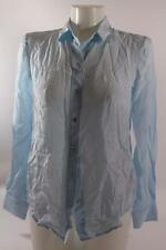 ZARA LIGHT BLUE 100% MULBERRY SILK SHIRT SIZE S SMALL REF 2731/041