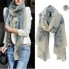 Women Fashion Pretty Long Soft Chiffon Cotton Scarf Wrap Shawl Stole Scarves Hot