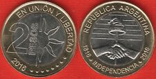 "Argentina 2 pesos 2016 ""Declaration of Independence "" BiMetallic UNC"