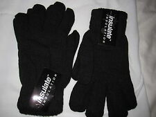 "BNWT- 2 X MENS ""INSULATE"" BLACK GLOVES"