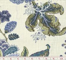 P Kaufmann Triple Crown Bluebell Floral Print Drapery Fabric BTY