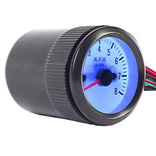 "Blue Light Car Motor Universal Pointer 2"" 52mm Tacho Tachometer Gauge RPM WYS"
