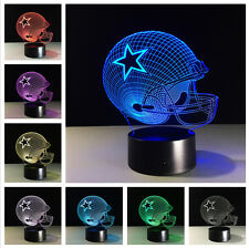 NFL Dallas Cowboys Helmet 3Dillusion Night Light 7Color LED Desk Table Lamp Xmas