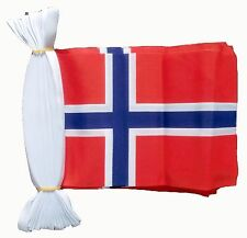 NORWAY 3 METRE BUNTING 10 FLAGS flag 3M NORWEGIAN OSLO