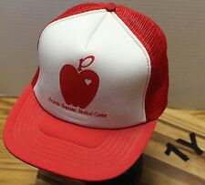 VINTAGE POCATELLO REGIONAL MEDICAL CENTER SNAPBACK TRUCKERS HAT RED & WHITE EUC