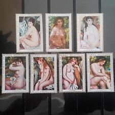 GUINEA ECUATORIAL 1972 Renoir Art stamps 7 pcs MNH