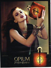 PUBLICITE ADVERTISING 035  2011  YVES SAINT LAURENT parfum femme OPIUM