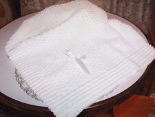 PRETTY Knit Baby Doll Blanket For Reborn WHITE Matches Outfit