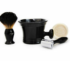 DOUBLE EDGE SAFETY RAZOR SHAVING SET +Badger Hair Shaving Brush & Mug GIFT SET