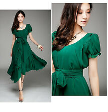 02 Deep Green women Ladies Elegant Evening Cocktail Party Dress plus Size 20